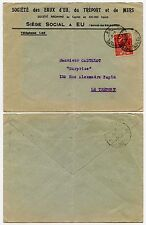 FRANCE 1931 EXHIBITION 50c on PRINTED ENVELOPE WATER COMPANY of TREPORT