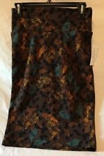 Lularoe Cassie Skirt. Brown With Leaf Pattern. Size Small. NWT. Charity Sale.