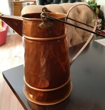 Copper & Brass Water Pitcher Jug with Two Handles Made in Turkey