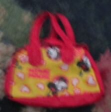 Minnie Mouse Disney Fashion doll bag purse red and yellow charming accessory