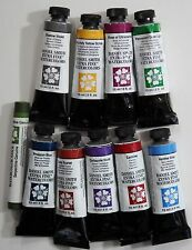 #11 Daniel Smith Artists Extra Fine Watercolor Paint set Lot 10 15ml Tubes Stick