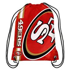 SF San Francisco 49ers NFL Big Logo side Stripe DrawString Backpack Backsack Bag