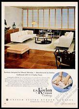 1953 Dunbar modern sofa living room Edward Wormley photo US Koylon Foam print ad