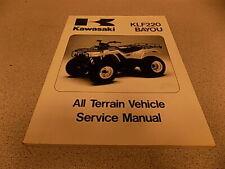 88-02 Kawasaki Klf220 Bayou Atv Service Manual 99924-1096-11