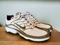 Nike AIR Athletic Shoes Brown/White/Gold 314290-121 VJ-N Size 9.5 Womens