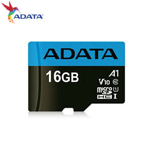 ADATA Premier 16GB 32GB 64GB microSD A1 UHS-I U1 Memory Card for Phones +Adapter