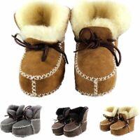 chaussures de bébé laine de fourrure des bottes chaudes d'abord les marcheurs