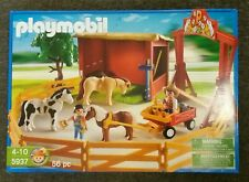 PLAYMOBIL Fattoria Pony/Cavallo Ranch. Set 5937. NUOVO con scatola. 2010. IDEA regalo. 56pc
