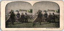 ANTIQUE Vintage ESQUIMAUX and TENTS Eskimo NOME ALASKA Stereoview Card PHOTO