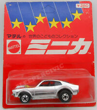 Rare Japanese Hot Wheels Super Chrome Mighty Maverick Blackwall on Blister Pack