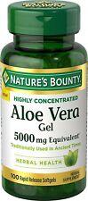 Nature's Bounty Aloe Vera Gel 5000 mg Equivalent 100 Count