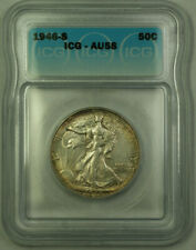 1946-S Silver Walking Liberty Half Dollar Coin 50c ICG AU-58