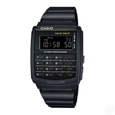 Casio 44mm Ca506b-1a Vintage Calculator Watch - Black