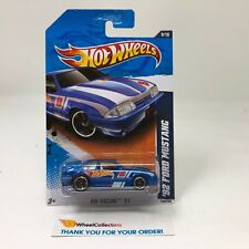 '92 Ford Mustang #159 * Blue * 2011 Hot Wheels * HH29