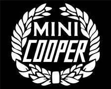 Mini Cooper Vintage Laurel Wreath Vinyl Car Decal #mini #minicooper #vintage