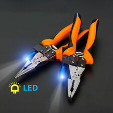 Fiber Optic Multifunctional Wire Pliers Electrician Stripping Cutter With LED