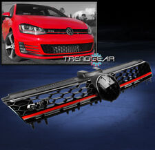 2014-2016 VW GOLF MK7 VII GTI STYLE FRONT UPPER HOOD MESH GRILLE GRILL BLACK/RED