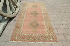 Neutral Boho Chic 2.9x5.9 Vintage Area Turkish Vintage Runner Entryway Faded 3x6