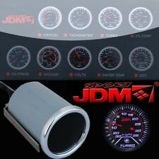 "Turbo Boost Gauge Turbo Meter LED Display Universal 52mm 2"" Tach Race Car PSI"
