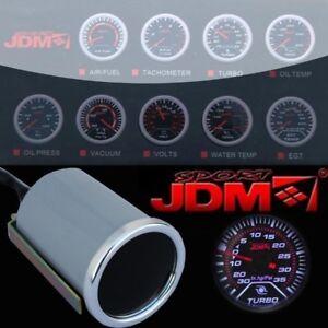 "Turbo Boost Gauge Turbo Meter LED Display Universal 52mm 2"" Tach Race Car PSI"