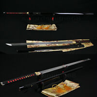 "Handmade Japanese Samurai Ninja Sword Damascus Steel Full Tang Blade Katanas 41"""