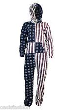 Unisex Ladies Mens One  sies Jumpsuits Playsuit US Flag, Stars & Stripes Print