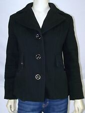 Kenneth Cole Reaction Black V-Neck Long Sleeve Jacket Womens Size Small 4 6