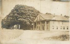 Eaton New York~Dirt Road Past Eaton Hotel~1910 Real Photo Postcard~RPPC