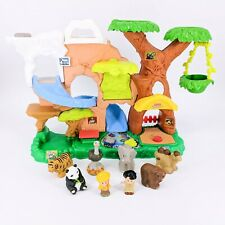 2011 Fisher-Price Little People Zoo Talkers Tree House Play Set 6 Animals Works