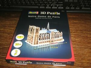 BY REVELL - 3 PUZZLE - NOTRE-DAME DE PARIS - 39 PIECES - AGE 10+