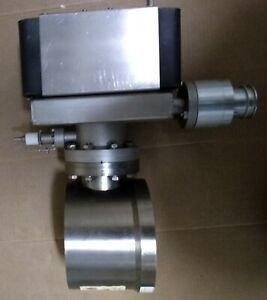 Varian Ion Pump 30 L/S Triode w/butterfly valve & gun chamberfor Amray SEM