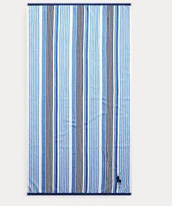 Polo Ralph Lauren Blue towel Big Pony  Beach Pool Towel 35x66 NWT