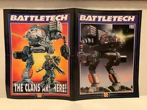"""RARE Battletech Video Game Poster FASA 1990 11""""x17"""" GUC Catalog Citytech Robots"""