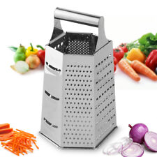 6 in 1 Stainless Steel Box Grater Best for Dry Cheese Vegetables Ginger 8.7 in