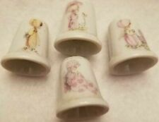 ( Lot Set of 4 ) Precious Moments Girls Thimbles Collection