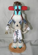 "1991 Native American Hopi ""Star"" Kachina Doll, Hand carved - Signed by RP - wood"
