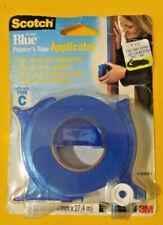 "LOT OF 2 Scotch Blue Painter's Tape Applicators + 1 Starter Roll 1"" x 30 yd each"