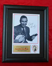 George Formby Preprinted Autograph/Guitar Pick Display Mounted & Framed