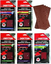 Dekton 1/3 Sanding Pads Rectangular Sheets 40 60 80 120 Or Mixed Grit 93 x 185mm