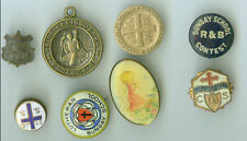 LOT OF 8 PINBACKS, MEDALS - ALL RELIGIOUS - on sale