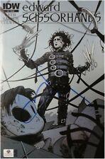 Johnny Depp Signed Autographed Edward Scissorhands Comic Book GA 848124