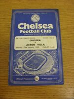 30/01/1960 Chelsea v Aston Villa [FA Cup] (Creased, Worn, Marked, Score Noted On