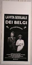 Locandina LA VITA SESSUALE DEI BELGI 1°ED.ITAL.1995 JEAN-HENRY COMPERE NOE FRANQ