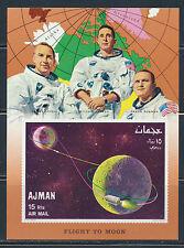 AJMAN SPACE APOLLO 8 MICHEL BLOCK 68B