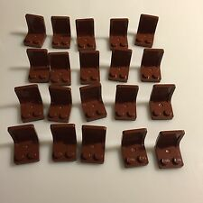 20 NEW LEGO Reddish Brown (Brown) 2x2x2 Seat (4079 / 4211206) chair car truck