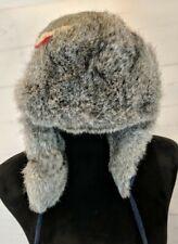 Paul Leinburd Crowncap Size M Unisex Men's Rabbit Fur Aviator Wool Striped