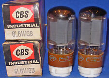 NOS / NIB Matched Pair TungSol 6L6WGB / 5881 Tubes Branded For CBS