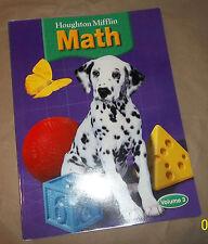 MATH, level 1, vol 3, Houghton, Student Workbook, BRAND NEW,  144pp