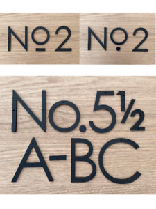 6 inch Modern House Numbers, Plastic address number, Letters, color choices