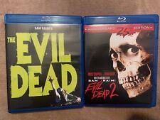 Evil Dead 1 2 Blu-Ray Lot Set Oop Limited Edition 25th Anniversary Horror Raimi